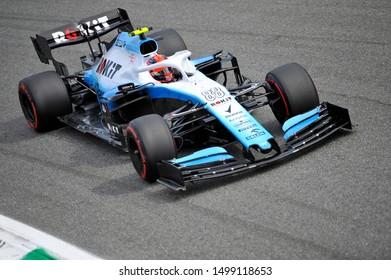 Monza, Italy. 7th September 2019. Formula 1 Grand Prix of Italy.Robert Kubica of ROKiT Williams Racing during qualifying for the F1 Grand Prix of Italy