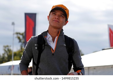 Monza, Italy. 8th September 2019.  Formula One Grand Prix of Italy. Lando Norris of McLaren F1 Team  during  the F1 Grand Prix of Italy
