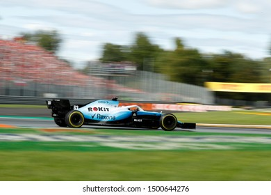 Monza, Italy. 8th September 2019.  Formula One Grand Prix of Italy. George Russell of ROKiT Williams Racing on track during  the F1 Grand Prix of Italy