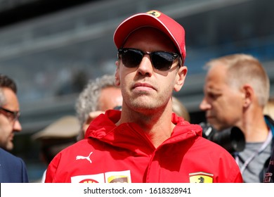 Monza, Italy. 8th September 2020.  Formula 1 Gran Prix of Italy. Sebastian Vettel of Scuderia Ferrari