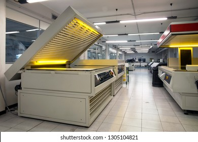 MONZA, ITALY - April 10, 2018 - This Italian company produces photopolymer printing plates for flexography for the printing of flexible packaging.