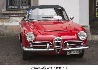 MONZA, ITALY - APRIL 24, 2016: Classic Alfa Romeo Giulietta Spider