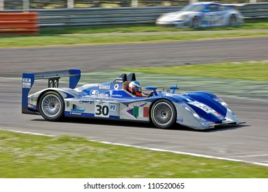 MONZA, ITALY - APRIL 27: Lucchini LMP2/04 driven by Filippo Francioni and Marco Didaio racing in the 1000km of Monza. April 27, 2008 in Monza, Italy