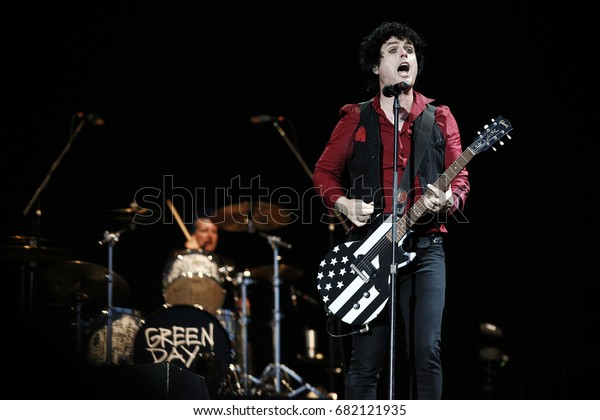 MONZA, ITALY - JUNE 15:  Billie Joe Armstrong and Greenday perform during I-Day Song Festival at Park of Monza in Italy on June 15, 2017.