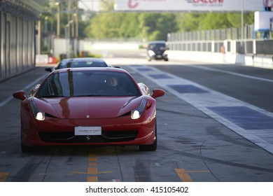 Monza, Italy - May 03, 2016 : Famous sports car at Monza during a fast driving course.