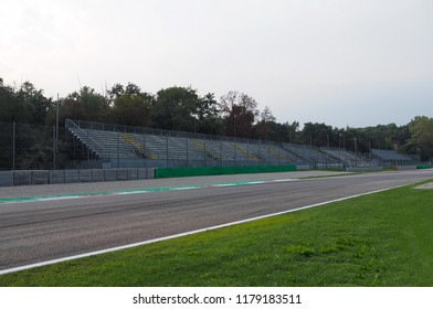MONZA, ITALY - September 13, 2018: The Autodromo Nazionale Monza, a race track located in the city of Monza, variante Ascari.