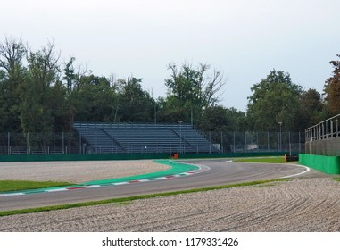 MONZA, ITALY - September 13, 2018: Ascari variants in Autodromo Nazionale Monza, a race track located near the city of Monza, north of Milan, in Italy.