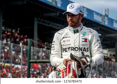 Monza, Italy. September 2, 2018. Grand Prix of Italy. F1 World Championship 2018. Lewis Hamilton, Mercedes, wins the grand prix of Italy.