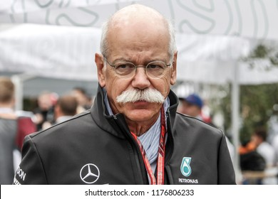 Monza, Italy. September 2, 2018. Grand Prix of Italy. F1 World Championship 2018. Dieter Zetsche, Mercedes Benz president.