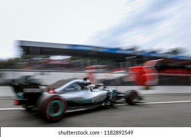 Monza, Italy. September 2, 2018. Grand Prix of Italy. F1 World Championship 2018. Lewis Hamilton, Mercedes.