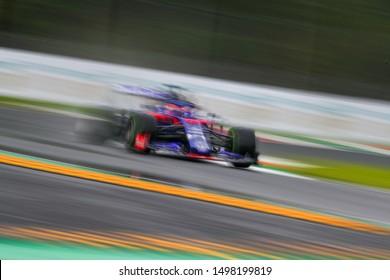 Monza (MB), Italy, September 07 2019 #26 DANIIL KVYAT TORO ROSSO HONDA. ITALIAN GP, MONZA 5-8 SEPTEMBER 2019  during Grand Prix Heineken Of Italy 2019 - Friday - Free Practice 1 And 2  Formula 1 Cham