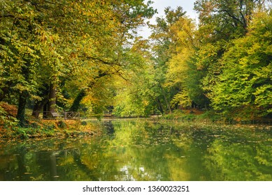 Monza park in autumn. Italy