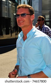 MONZA - SEPTEMBER 11: David Coulthard in the paddock on monza, working for the BBC F1 on september 11, 2010 in monza, italy