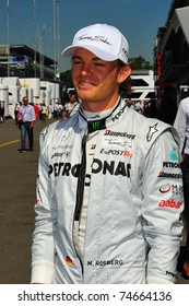 MONZA - SEPTEMBER 11: Petronas Mercedes F1 Team Driver, Nico Rosberg arrives in the paddock Formula one on september 11, 2010 in monza, italy, formula 1