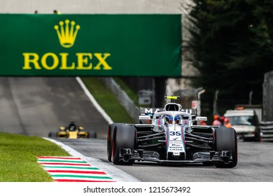 Monza/Italy 08/31/2018  Sergey Sirotkin (RUS) in his Williams FW41 at the Ascari chicane during the afternoon practice ahead of the 2018 Italian Grand Prix at Monza.