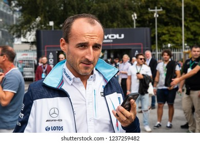 Monza/Italy - 09/01/2018 - Robert Kubica (POL, Williams F1 Team test and development driver) in the paddock ahead of the 2018 Italian Grand Prix at Monza