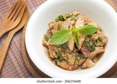 Moo Nam Tok, Thai Spicy Grilled Pork Salad