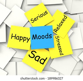 Moods Note Showing State Of Mind