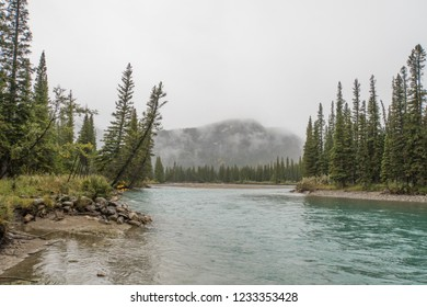 Moody Bow River Banff British Columbia Canada