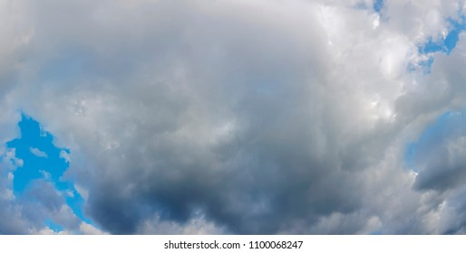 Moody Cloudy Sky Panoramic View