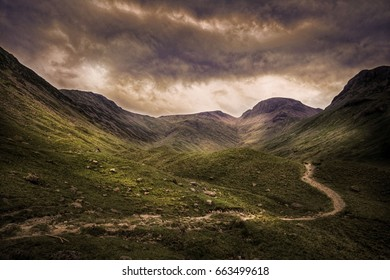 Moody evening landscape in the Ennerdale valley