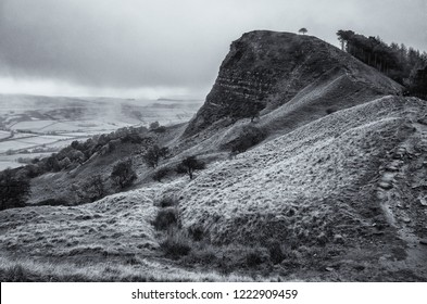 Moody landscape in the Peak District National Park, a popular destination for hiking and rambling in northern England