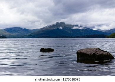 A moody Loch Lomond, Scotland, UK.