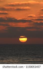 Moody Ocean Sunset