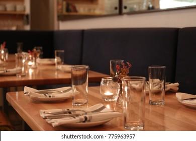 Moody Restaurant Setting