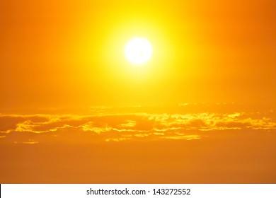 Moody sky - bright sunset - back lit