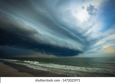Moody storm clouds brewing along the Florida Gulf Coast