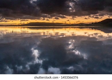 Moody Waterscape with Clouds - Sunrise at Koolewong Waterfront on the Central Coast, NSW, Australia.