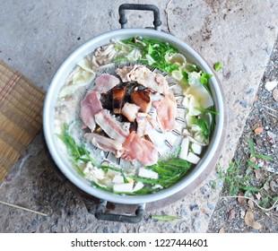 Moo-gata Pork pan.thai food of delicious