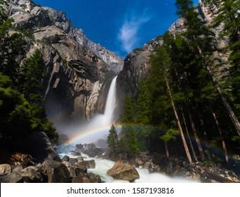 Moon bow at Yosemite national park, CA