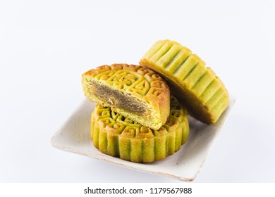 Moon cake, Chinese character indicates the flavor