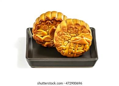 Moon cake. Chinese mid autumn festival food