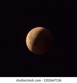 Moon during total lunar eclipse of 27 July 2018 (longest eclipse of the 21st century). High level of noise in the shadow.