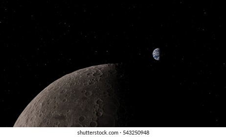 Moon (Elements of this image furnished by NASA)