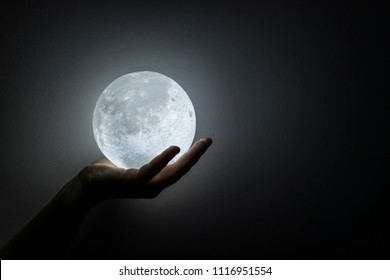 Moon in the hand