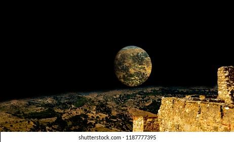 moon imagination colage