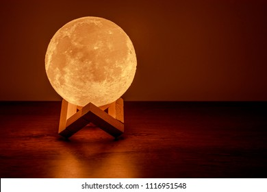 Moon lamp on the table