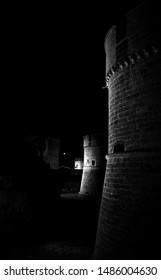Moon light at castle De Monti