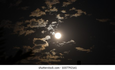 Moon light and cloud