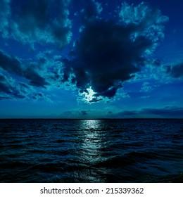moon light over dark water