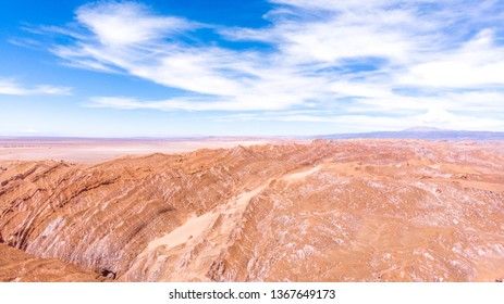 Moon like landscape in Atacama Desert