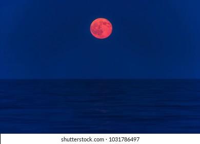 Moon moonrise Sea