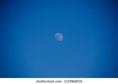 Moon on a daytime sky