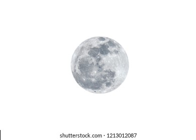 Moon on white background.