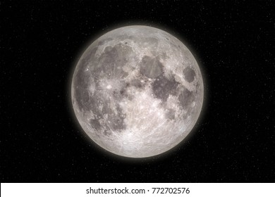 Moon in outer space. Elements of this image furnished by NASA
