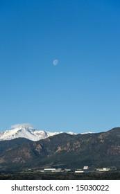 Moon over Air Force Academy